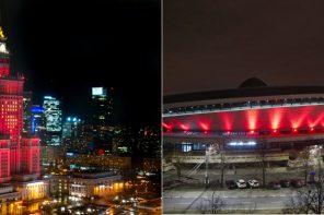 Pałac Kultury i Nauki w Warszawie oraz Katowicki Spodek rozświetliły się na czerwono dla dławicy piersiowej!